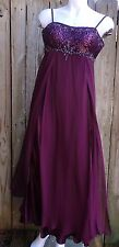 ASPEED L Purple Fluttering Voile Beads Sequin Prom Evening Cocktail Maxi Dress L