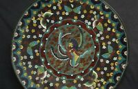 1850-1880  Antique Meiji Period Japanese Cloisonne Plate - 12 Inches