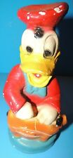 Vintage Carnival Chalkware Donald Duck Bank Chalk Figurine Statue