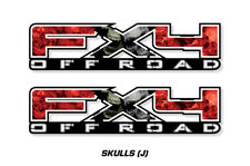"""FX4 Off Road Truck Bed Decal Set For Ford F150 09-14 Vinyl Stickers 17""""X4"""" SKULL"""