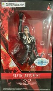 OFFICIAL FINAL FANTASY VII (7) SEPHIROTH STATIC ARTS BUST FIGURE