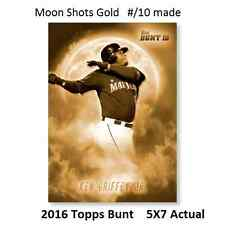 #MS-8 Jayson Werth Nationals Moon Shots 2016 Topps BUNT 5X7 Gold Ver #ed/10 Made