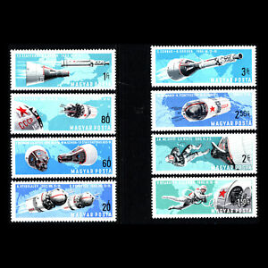 Hungary 1966 - Manned Space Travel - Sc1803/10 MNH