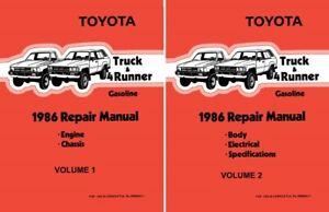 1986 Toyota 4-Runner Shop Service Repair Manual