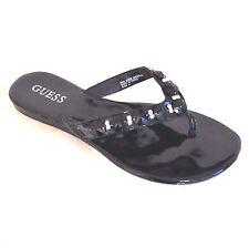 """GUESS """"Ellis"""" Women's Size 6 Black Flip Flops, Open Toe Sandals, Shoes,Flats EUC"""