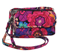 NWT VERA BRADLEY All In One Crossbody For Iphone 6 in FLORAL FIESTA Retired!