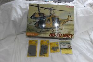 Dragon 1/35 UH-1D Huey Helicopter Vietnam War plus upgrade kits
