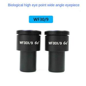 WF30X/9 High Eye-point Eyepiece Wide Field View Ocular for Biological Microscope