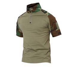 TACVASEN Mens Army Shirt Moisture Wicking Tactical Combat Shirt Military T-Shirt