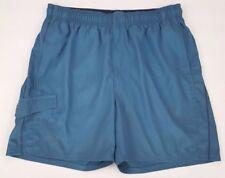 NIKE Mens BATHING Suit LARGE Blue SWIM Trunks SIZE Sz SWOOSH Logo CARGO Pocket**