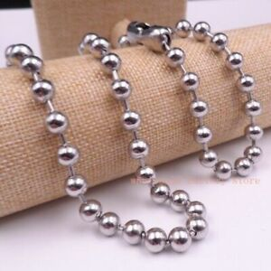 8mm Stainless Steel Silver smooth Ball Chain all sizes necklace /bracelet/anklet