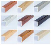 UPVC WOOD EFFECT STAIR EDGE NOSING -TRIM- EDGING NOSING 30 x 30mm