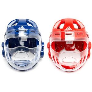 Adidas WTF Approved TAEKWONDO FACE MASK HeadGear/Head protector/Blue/Red/S/M