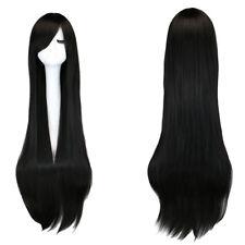100cm Fashion Womens Wig Long Straight Black Anime Cosplay Party Wig Full Wig