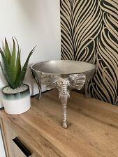 Large Silver Metal Elephant Bowl Home Decoration