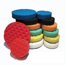 "Lake Country CCS Pad Set Yellow Orange White Green Black Blue Red 6.5"" and 4"""