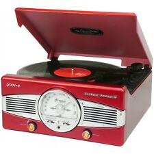 Groov-E Retro Vinyl Record Player Turntable with FM Radio and Built-in Speakers