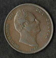 1831 William IIII Large Copper Penny Nice VF Scarce