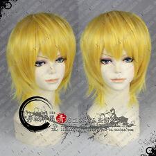 Hunter × Hunter Kurapika Anime Cosplay Short Wig +Free Wig CAP