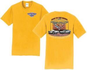 10th Annual Corvette Reunion @ BACK TO THE BRICKS T Shirt YELLOW SIZE XL