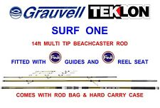 GRAUVELL TEKLON 420m 14ft SURF ONE MULTI TIP BEACHCASTER ROD DISTANCE BAITCASTER