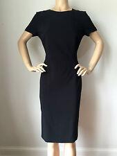 NEW ESCADA WOMENS BLACK DRESS SIZE 8 VISCOSE SPANDEX