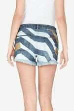 Sass & Bide STAGE SHOW Embellished print sequin shorts AMANTE AMORE size 6-8