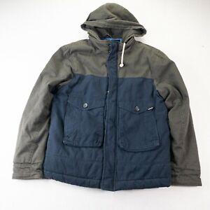 Quicksilver Jacket Mens Medium Dark Blue Green Snowboard #162