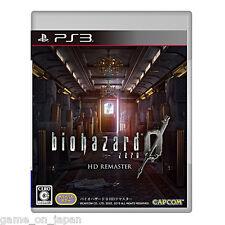Resident Evil 0 Hd Remaster PS3 Biohazard  Japanese Version Multi-Language
