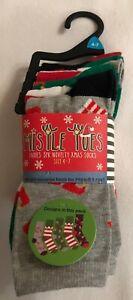 Ladies - Christmas - Ankle Socks - 5pk - Design 4 - Size 4-7 - Brand New