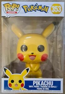 "POKEMON FUNKO POP! VINYL PIKACHU 10"" FIGURE #353 ✅✅✅ FREE DELIVERY 🚚🚚🚚"