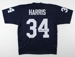 Franco Harris Signed Penn State Nittany Lions Jersey (Beckett)4xSuper Bowl Champ