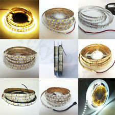 12V 5M LED Flex Strip Light Tape 3528 2835 3014 5050 5630 7020 Single Double Row
