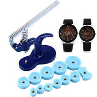 Watch Back Case Press Closer Presser Repair Fitting Watchmaker Tool W/ 12 Dies