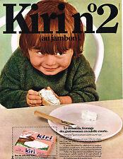 PUBLICITE ADVERTISING 045  1969  KIRI  N°2  fromage à tartiner de BEL