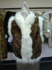 BRAND NEW SHEARED MONTANA LYNX & FOX FUR VEST  WOMEN