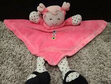 New listing Okie Dokie Security Blanket Pink Doll Satin Rattle