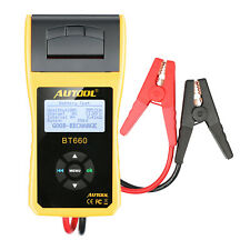 Car Battery Tester Automotive Battery Analyzer Diagnostic in Thermal Printer USA