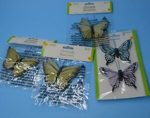 """Small lot Organza Tulle Wire Butterfly Butterflies Wedding Arts Crafts 3"""""""