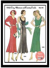 1930's Weldon Ladies Journal Sewing Pattern for Three Frocks