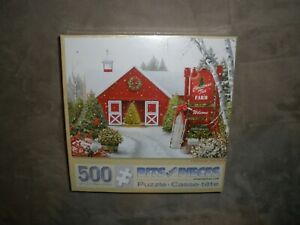 """New / Sealed Bits and Pieces """"Christmas Tree Farm"""" 500 Piece Puzzle (18"""" x 24"""")"""