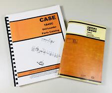 J I CASE 1845C UNI LOADER PARTS AND OPERATORS MANUAL CATALOG SKID STEER ASSEMBLY