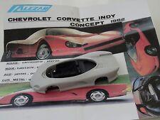 ALEZAN MODELS . 1/43 . CHEVROLET CORVETTE INDY . CONCEPT .1988 .