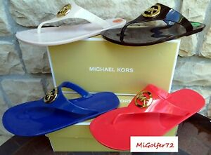 Michael Kors New in Box Lillie Jelly Thong Sandals - Choose Your Size and Color!
