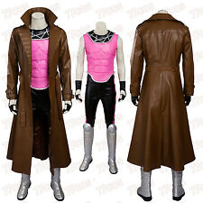 X-Men Superhero Gambit Remy Etienne LeBeau Cosplay Costumes+Shoes Halloween Cos