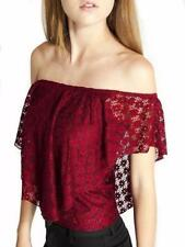 Off-Shoulder Sleeve Solid Tops & Blouses for Women