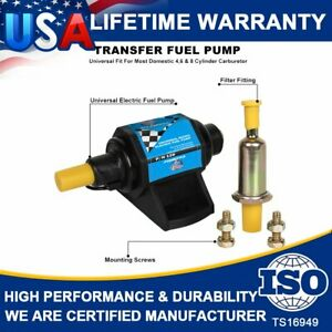 Mighty Mite 4-7 PSI 12V Universal Electric Gasoline Fuel Pump 35GPH W/Carburetor