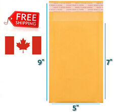 "5 x 7 Kraft Bubble Mailers Gold Self Seal Padded Envelopes 5""x 7"" Size #000"