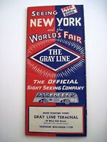 1939 Gray Line Sight Seeing Bus Line - See New York and the World's Fair  *