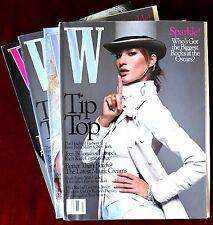 Lot of 4 W Fashion Magazines ~ 2003 ~ Nicole Kidman Gisele Bundchen Selma Blair